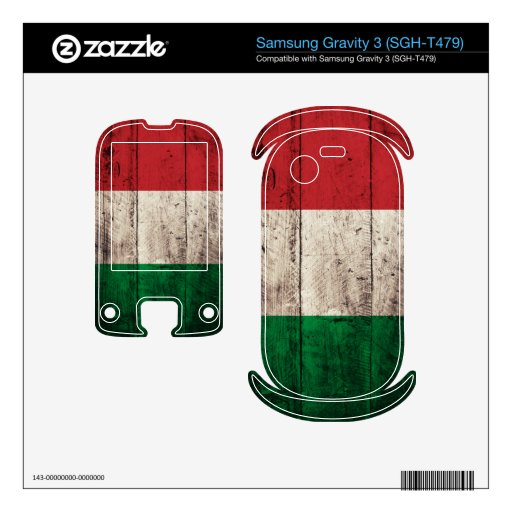 Bandera de madera vieja de Italia; Itali Samsung Gravity 3 Skin
