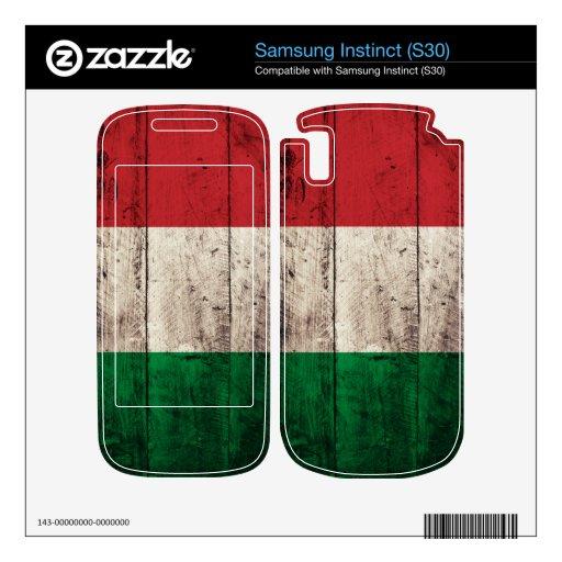 Bandera de madera vieja de Italia; Samsung Instinct Calcomanía