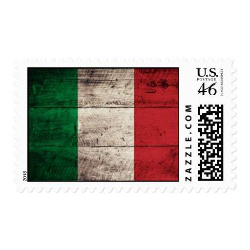 Bandera de madera vieja de Italia
