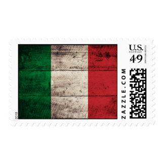 Bandera de madera vieja de Italia Envio