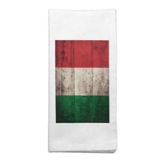 Bandera de madera vieja de Italia Servilleta