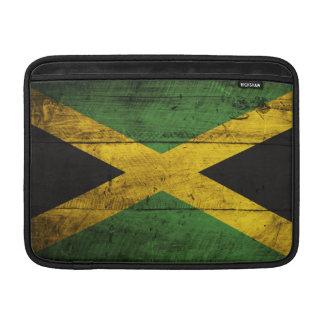 Bandera de madera vieja de Jamaica Fundas Para Macbook Air