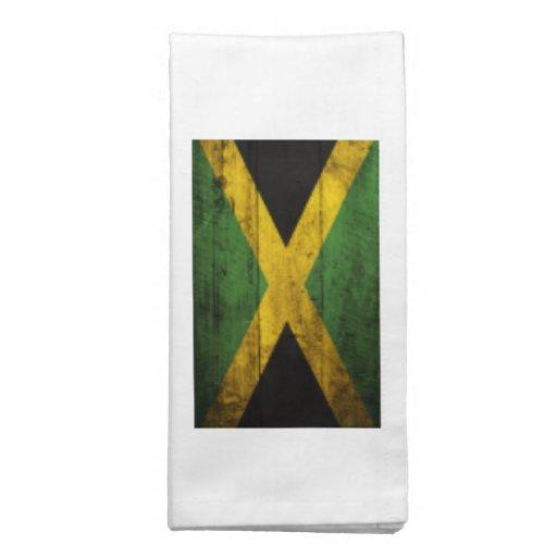 Bandera de madera vieja de Jamaica Servilletas De Papel