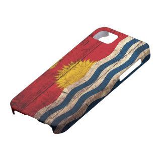 Bandera de madera vieja de Kiribati Funda Para iPhone 5 Barely There
