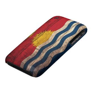 Bandera de madera vieja de Kiribati iPhone 3 Protector