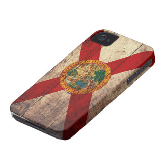Bandera de madera vieja de la Florida; iPhone 4 Fundas