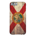 Bandera de madera vieja de la Florida; Funda De iPhone 6 Barely There