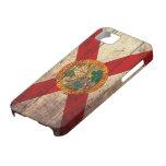 Bandera de madera vieja de la Florida; iPhone 5 Case-Mate Cárcasas
