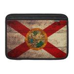 Bandera de madera vieja de la Florida; Funda Para Macbook Air