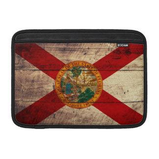 Bandera de madera vieja de la Florida; Fundas Para Macbook Air