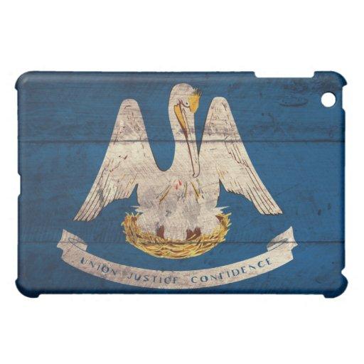 Bandera de madera vieja de Luisiana;