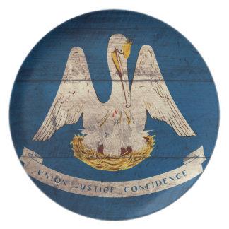 Bandera de madera vieja de Luisiana; Platos De Comidas