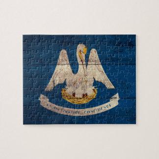 Bandera de madera vieja de Luisiana; Rompecabezas