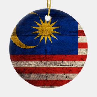 Bandera de madera vieja de Malasia Ornamentos De Reyes Magos