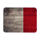 Bandera de madera vieja de Malta Imanes Flexibles