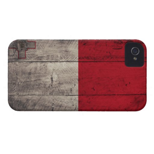 Bandera de madera vieja de Malta iPhone 4 Carcasa
