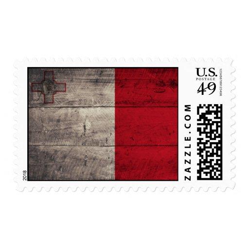 Bandera de madera vieja de Malta Sellos