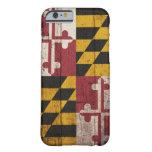 Bandera de madera vieja de Maryland Funda De iPhone 6 Slim