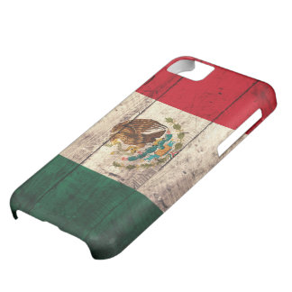 Bandera de madera vieja de México