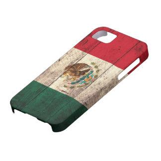 Bandera de madera vieja de México Funda Para iPhone 5 Barely There