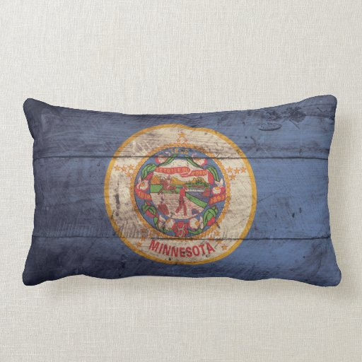 Bandera de madera vieja de Minnesota; Cojin