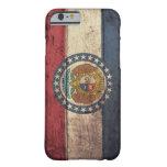 Bandera de madera vieja de Missouri; Funda De iPhone 6 Barely There