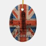 Bandera de madera vieja de moda fresca adornos de navidad
