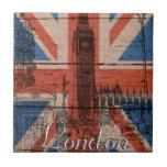 Bandera de madera vieja de moda fresca impresionan azulejos