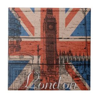 Bandera de madera vieja de moda fresca impresionan azulejo cuadrado pequeño