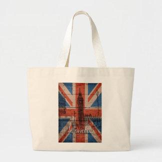 Bandera de madera vieja de moda fresca impresionan bolsas de mano