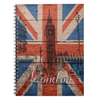 Bandera de madera vieja de moda fresca impresionan note book