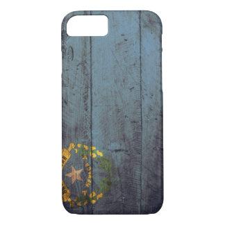 Bandera de madera vieja de Nevada; Funda iPhone 7