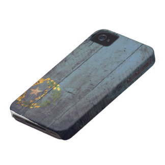 Bandera de madera vieja de Nevada; Funda Para iPhone 4 De Case-Mate