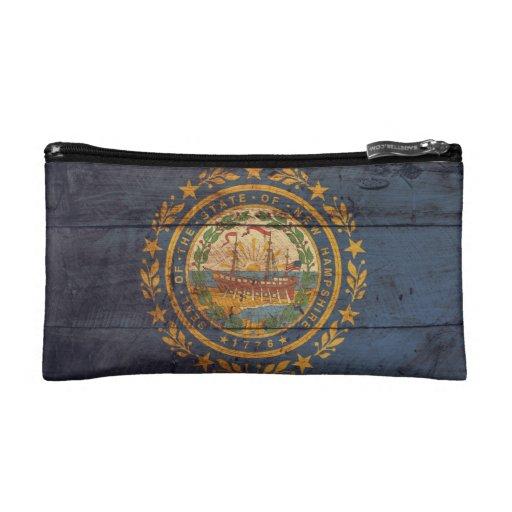 Bandera de madera vieja de New Hampshire;