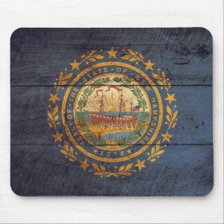 Bandera de madera vieja de New Hampshire; Tapete De Raton