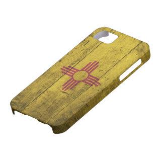 Bandera de madera vieja de New México; iPhone 5 Case-Mate Protector