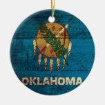 Bandera de madera vieja de Oklahoma; Ornamentos Para Reyes Magos