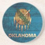 Bandera de madera vieja de Oklahoma; Posavaso Para Bebida