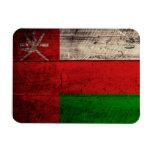 Bandera de madera vieja de Omán Iman
