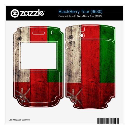 Bandera de madera vieja de Omán; BlackBerry Tour Skin