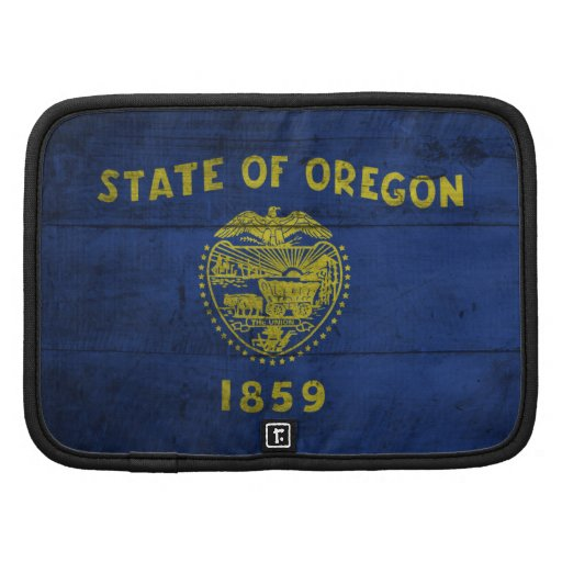 Bandera de madera vieja de Oregon; Organizador