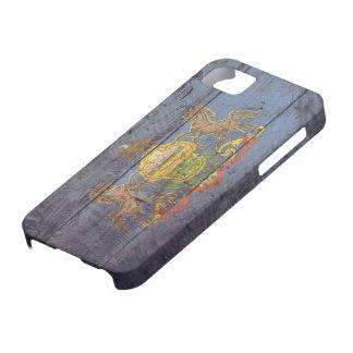 Bandera de madera vieja de Pennsylvania; iPhone 5 Case-Mate Funda