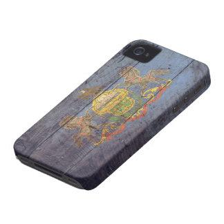 Bandera de madera vieja de Pennsylvania; iPhone 4 Case-Mate Carcasas