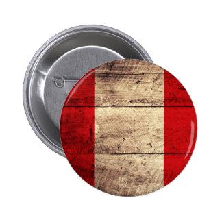 Bandera de madera vieja de Perú Pin