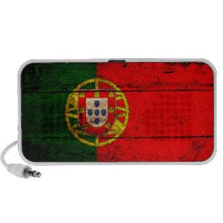 Bandera de madera vieja de Portugal Laptop Altavoces
