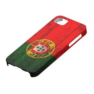 Bandera de madera vieja de Portugal iPhone 5 Carcasas