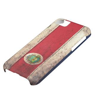 Bandera de madera vieja de Rican de la costa