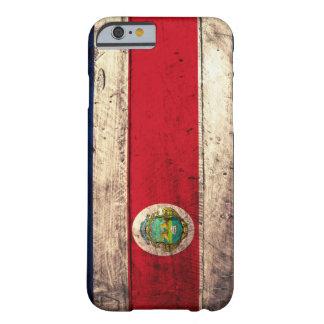 Bandera de madera vieja de Rican de la costa Funda De iPhone 6 Barely There