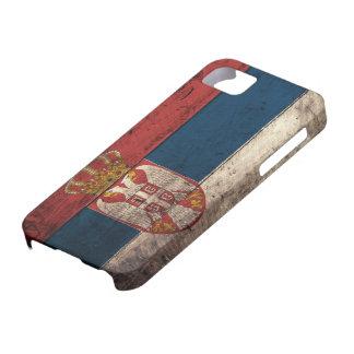 Bandera de madera vieja de Serbia iPhone 5 Funda