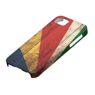 Bandera de madera vieja de Seychelles Funda Para iPhone SE/5/5s